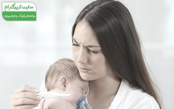اولین تب نوزاد در هفته هفتم از تولد