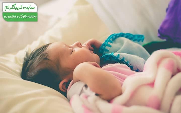 خواب نوزاد در هفته دهم