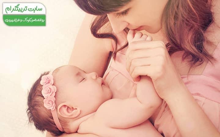 کشف اعضای بدن توسط نوزاد