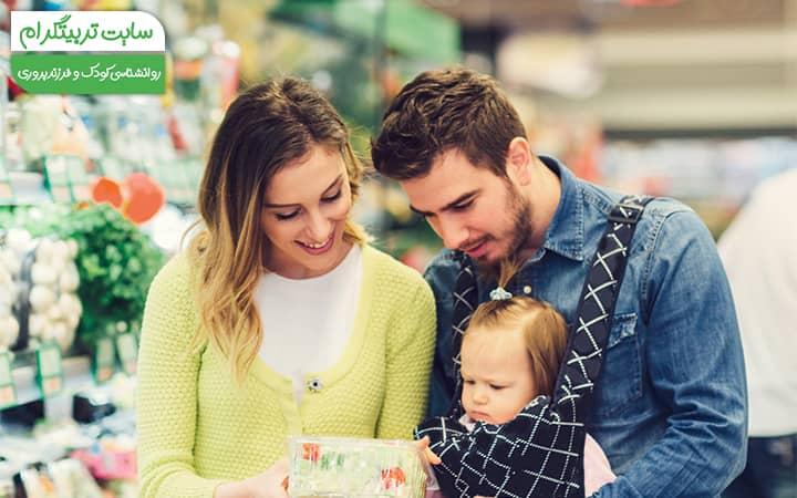 رفتن به خرید همراه نوزاد